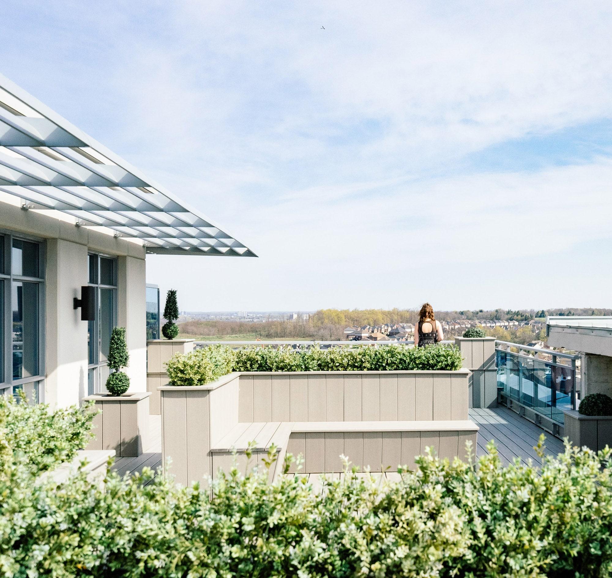 Quartier Mosaïque - Vue d'une terrasse